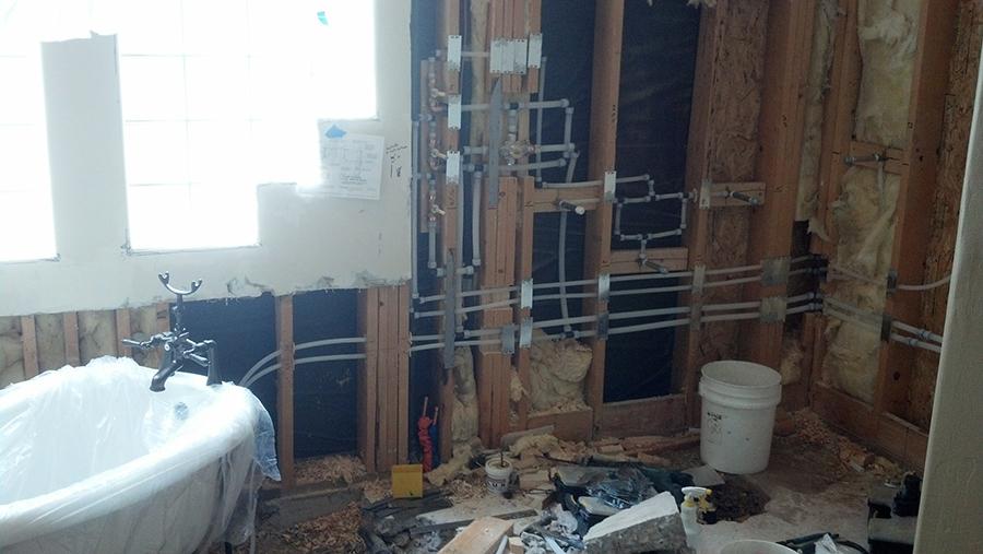 Freestanding Bathtub Before